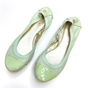 Coach | Dalia Mint Green Leather Flats